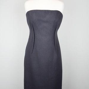Vera Wang Charcoal Wool Cocktail Dress